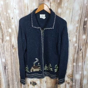 Christopher Banks Christmas Holidat Tree Sweater